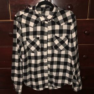 FOREVER 21 PLAID LONG SLEEVE